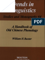 A Handbook of Old Chinese Phonology-William H. Baxter
