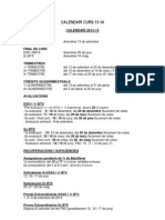 Calendari Curs 13-14