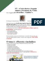 Crónica Nº 157-Carta aberta a Joaquim Oliveira