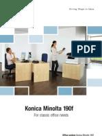 Documentation Commerciale Km190f