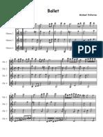 Praetorius-Ballet-guitar quartet-score