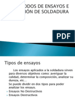 METODOS DE ENSAYOS E INSPECCIÓN DE SOLDADURA