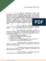 Invitacion Aventureros Cade 2012