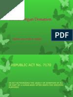 Blood organ donation