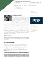 Paola Scagliotti - Proyecto Orientación Poesía. Jovenes escritores en Uruguay