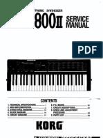 Korg Poly-800ii Service Manual