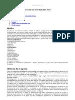 Principales Caracteristicas Optica