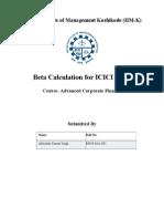 Beta Calculation Assignment