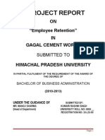 Final Report on Employee Retention