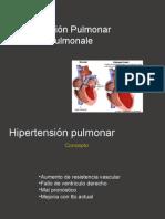 Hipertensión pulmonar y Cor pulmonale