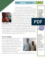 September Newsletter 2013
