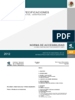 INIFED Norma Ccesibilidad 2012
