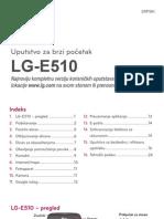 Uputstvo za brzi početak LG-E510