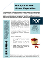 Myth Safe Fruit and Vegetables