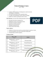 TOT Course Profile