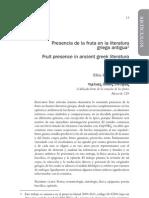 Presencia de La Fruta en La Literatura Griega Antigua