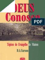 D. a. Carson - Deus Conosco
