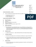 September 9 Tc Agenda