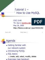 Mysql Tutorial 1