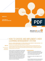 Desire2Learn WP_How to Choose and Implement a New Learning Management System