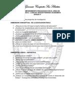 PLAN DE ACOMPAÑAMIENTO PEDAGOGICO EN EL AREA DE EDUCACION FISICA -LUDICAS  9°