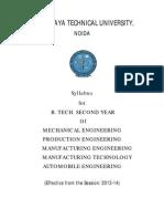 Syllabus - IInd Year Me
