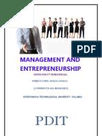 Management & Entrepreneurship Notes