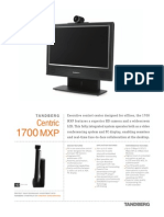 Videoconferencing Tandberg Centric 1700 Mxp Data Sheet
