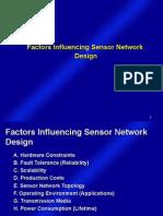 Lecture3.1Factors Influencing Sensor Network