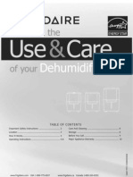 Frigidaire Dehumidifier CAD504DUL Owners Guide