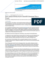 WSJ Suit Claims Merkin Knew Madoff's Business Was a Fraud