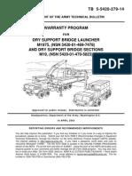 TB 5-5420-279-14 DRY SUPPORT BRIDGE LAUNCER M1975