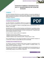 ESPECIFICACIONES DE TUBERÍAS UTILIZADAS PARA LOS SIST DE AGUA Y ABASTECIMIENTO DE CONSUMO HUMANO