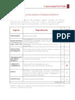 Evaluación de trabajos escritos - estudiantes