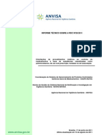Informe Tecnico Procedimentos RDC n 20