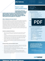 Websense Data Security Gateway datasheet