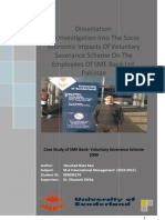 An Investigation into the Socio Economic Impacts of Voluntary Severance Scheme on the Employees of SME Bank By Naushad Kazi