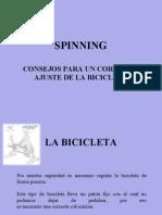 Ajuste bicicleta Spinnig
