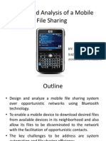 Design and Analysis of a Mobile File Sharing System for Opportunistic Networks