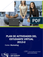 Formato Plan de Actividades Del Estudiante 2013-2