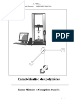 Caracterisation Des Polymeres