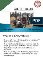 BAJA SAE  IIT DELHI-2012