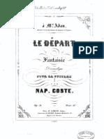 Napoléon Coste, Le départ Op. 31
