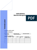 SAP MM End User Manual
