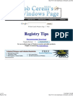 Registry Tips and Tricks