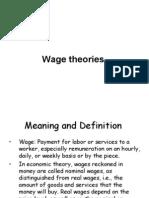 0 Wage Theories