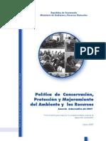 Política Conservación, protección del Ambiente y recursos naturales