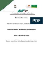 Seleccion de Rodamientos_ Jesus Aurelio Tejada Rodriguez_9 B Mecatronica