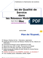 Quality of Service Models in Ad Hoc Netwoks (in French)