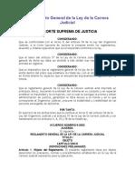 Reglamento General de La Ley de La Carrera Judicial